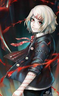 Manga Anime, Anime In, Dark Anime, Anime Chibi, Anime Guys, Juuzou Tokyo Ghoul, Juuzou Suzuya, Tsukiyama, Kaneki