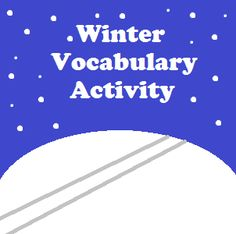 Winter Words in ABC Order   I have created a number of vocabulary activities that can be used as bell work literacy centers or substitute teacher plans. Today I am sharing a set of twenty-four words and an organizer to place them in alphabetical order.To download this free two-page activity please visit this page at Artistry of Education.  ABC order Mary Bauer vocabulary winter
