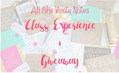 The Sweet and Chic Prep: All She Wrote Notes Class + GIVEAWAY
