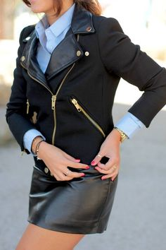 How to wear #moto #jacket adorable <3