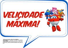 Plaquinhas Divertidas Super Wings 9