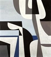 Yiannis Moralis (Greek, Figurehead 100 x 89 cm. Abstract Geometric Art, Abstract Images, Inuit Art, Greek Art, Triptych, Vintage Posters, New Art, Sculpture Art, Modern Art