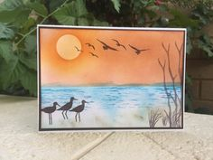 Sponged Background, High Tide stamps