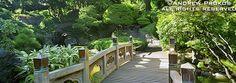 Panoramic Landscape with Japanese Bridge, Brooklyn Botanic Garden - http://andrewprokos.com