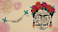 frida kahlo famous creative quote by #korolevtseva #katerintseva illustration hand drawn copic markers calligraphy lettering portrait