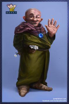 Snow White:  If Disney's 7 #Dwarves Were Real Men ~ #Dopey.