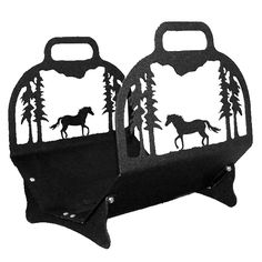 Trotting Mustang Big Lodge Firewood Holder #LearnShopEnjoy