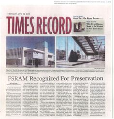 RAM Recognized for Preservation -Times Record, January 23, 2014