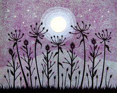 Meet Me In The Moonlit Meadow - Cut Paper Art by Angie Pickman