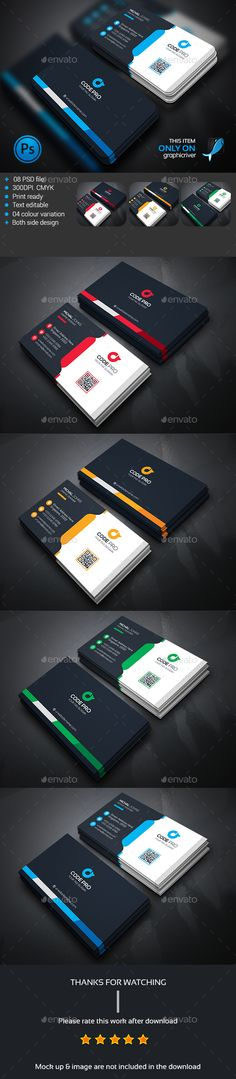 Modern Business Card Template PSD #design Download: http://graphicriver.net/item/modern-business-card/13628595?ref=ksioks