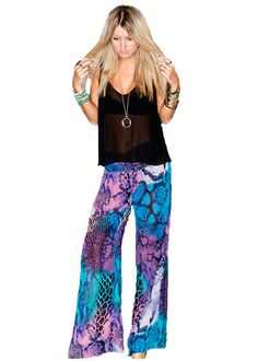 Show Me Your MuMu Tipsy Pant in Party Snake