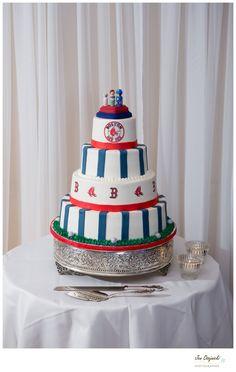 Red Sox Wedding Cake - Red Sox Wedding - Jen Osojnicki Photographer