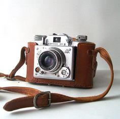 vintage samoca camera 35mm leather case long carrying strap by RecycleBuyVintage, $55.00