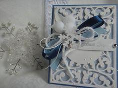 Новогодняя открытка Морозные узоры