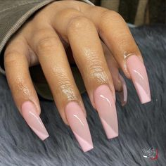 40 Graceful Acrylic Coffin Nail Designs for Long Nails and Short Nails - The First-Hand Fashion News for Females acrylic coffin long Iris Nails, Aycrlic Nails, Dope Nails, Hair And Nails, Blush Nails, Summer Acrylic Nails, Best Acrylic Nails, Acrylic Nail Designs Coffin, Square Acrylic Nails
