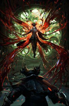 Dark Souls Bloodborne: The Old Hunters Dark Souls II fictional character cg artwork Bloodborne Concept Art, Bloodborne Art, Dark Blood, Old Blood, Arte Dark Souls, Leona League Of Legends, Soul Saga, Arte Obscura, Dark Fantasy Art