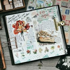 There are always flowers for those who what to see them. Bullet Journal Notebook, Art Journal Pages, Art Journals, Travel Sketchbook, Sketch Journal, Creative Journal, Nature Journal, Scrapbooking, Moleskine