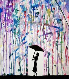 Colorfully Dripping Paintings