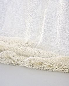 Shop SUITE NY for the Veil curtain designed by Ritva Puotila and other eco-friendly interior elements, room dividers and hand knit paper yarn draperies Home Textile, Textile Design, Textile Art, Hanging Room Dividers, Red Dot Design, Weaving Textiles, Curtain Designs, Fiber Art, Veil