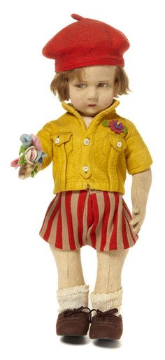 Lenci 300- Cloth doll, I love these dolls. You just want to pick one up and give it a squeeze...