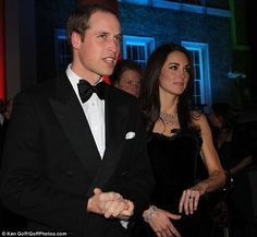 The royal arrival: The young prince looked dapper in black tie at the event. 20/12/2011