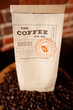 Designed by byJake Dugard  The Coffee Co•Op is a coffee shop devoted to bringing people quality products and a unique environment. The class assignment was to create a branding campaign and the collateral includes a menu, coffee bags, glasses, and cups.