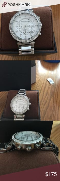 Brand new MK watch I just ordered it online and then realized I don't really like watches but I can not return it because I opened the box :/ it's still new and I haven't even set the time or date yet. I did have two links taken out but I still have them in the box with the watch. Michael Kors Jewelry