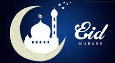 Eid Mubarak blue silver