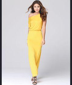Pure Color O-neck Short Sleeve Long Dress