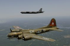B-52 OVER B-17.. Torch passing?