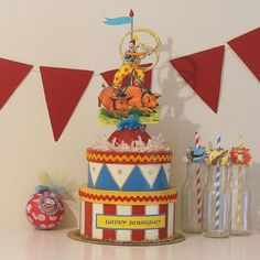 Check out our circus centerpiece selection for the very best in unique or custom, handmade pieces from our centerpieces shops. Circus Theme Decorations, Circus Centerpieces, Halloween Decorations, Party Themes, Party Ideas, Birthday Celebration, Birthday Parties, Carnival Themed Party, Circus Baby