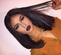 Short Bob Wigs Straight Brazilian Remy Human Hair Lace Front Wigs for Women Beauty Makeup, Hair Makeup, Hair Beauty, Dope Makeup, Bob Hairstyles, Straight Hairstyles, Girls Tumblrs, Lemy Beauty, Curly Hair Styles