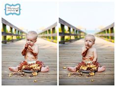 Baby's first birthday with cake.  SO cute! #photography #cake