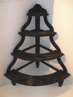 DIY possibility:corner ladder-shaped plant stand variation