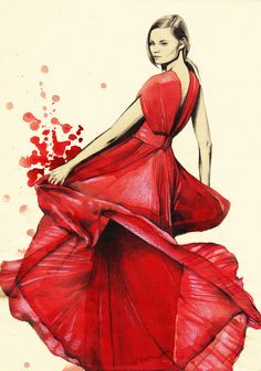 Karin Fashion Illustrations Flowy and beautiful