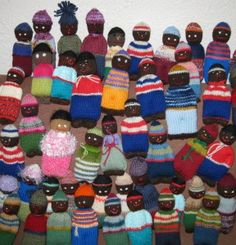 knitted dolls for Africa