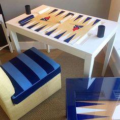 Friday Fun! @nine_fair board on our classic backgammon table... Work in progress!