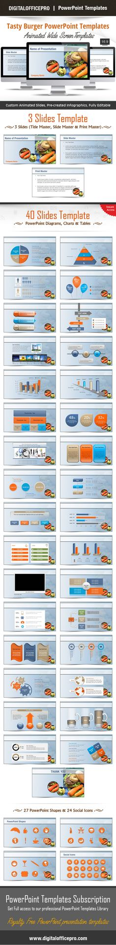 Impress and Engage your audience with Tasty Burger PowerPoint Template and Tasty Burger PowerPoint Backgrounds from DigitalOfficePro. Each template comes with a set of PowerPoint Diagrams, Charts & Shapes and are available for instant download.