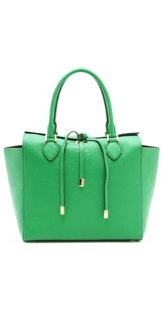 Michael Kors Collection Miranda Large Tote --- love the spring color pop but wouldn't mind having it in black either! Divine!