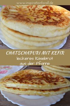 Chatschapuri mit Kefir – einfaches Rezept für Käsebrot aus der Pfanne You can quickly prepare the juicy khachapuri with kefir yourself. The recipe for the Georgian cheese bread from the pan is simple. Kefir Recipes, Egg Recipes, Crockpot Recipes, Baking Recipes, Shake Recipes, Healthy Dessert Recipes, Smoothie Recipes, Breakfast Recipes, Nutritious Smoothies