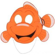 These fun bright orange masks are a must have for children s sea themed birthday parties. The mask is made of soft comfortable foam and depicts a happy clown fish. Clown Fish Cartoon, Fish Mask, Fancy Dress Masks, Fish Costume, Headgear, Costume Accessories, Party Gifts, Birthday Party Themes, Tigger