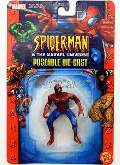 Spider-Man Die-Cast Actionfigur aus der Toybiz Figurenserie: Spider-Man & the Marvel Universe (http://www.cyram-entertainment.de/shop/products/Figuren-Statuen/Marvel/Spider-Man-The-Marvel-Universe/Spider-Man-Die-Cast.html) #spiderman #diecast #actionfigures