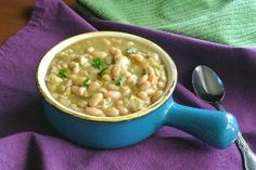 White Bean Chili Recipe - Slow Cooker Crockpot - Vegan in the Freezer