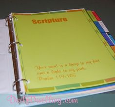 prayer-journal-pages; love this idea of a prayer Journal with printables for 10 tabbed sections; Daily Dwelling blog by Monica......