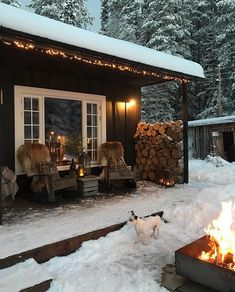 6 Best Outdoor Christmas Lights You Will Love it - Winter Porch, Winter Cabin, Cozy Cabin, Outdoor Christmas, Christmas Lights, Christmas Decorations, Merry Christmas, Cabin Porches, Lake Cabins
