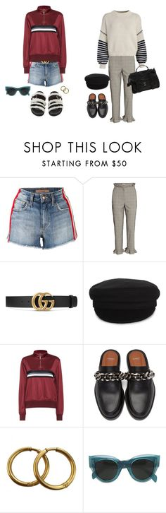 """""""Untitled #1843"""" by mmooa ❤ liked on Polyvore featuring Joe's Jeans, Sportmax, Gucci, Étoile Isabel Marant, Wood Wood, Givenchy, Alexander McQueen, Chanel, CÉLINE and Proenza Schouler"""