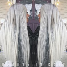 Long Platinum Blonde, Ash Blonde, Hair Color And Cut, Cut My Hair, Dope Hairstyles, Pretty Hairstyles, Silver White Hair, Balayage Blond, Long Gray Hair