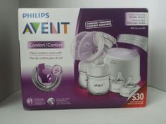 Breast Pump Avent SCF334/02 Philips Double Electric Comfort Breastfeeding Baby #PhilipsAvent