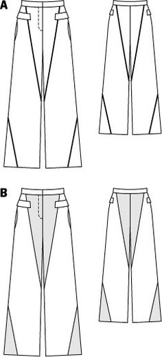 Paneled Wide Trousers 02/2015 #116B – Sewing Patterns | BurdaStyle.com