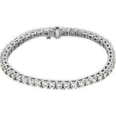 18K White Gold Diamond Bracelet - 7.00 Ct. -- LIFETIME WARRANTY